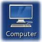 Computer icon on the desktop