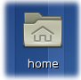 Home icon on the desktop